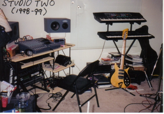 My second demo studio setup with the Tascam 488 mkII in place.